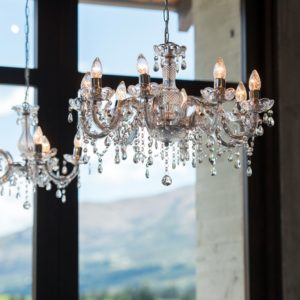 Crystal chandeliers queenstown wedding hire aloadofball Image collections