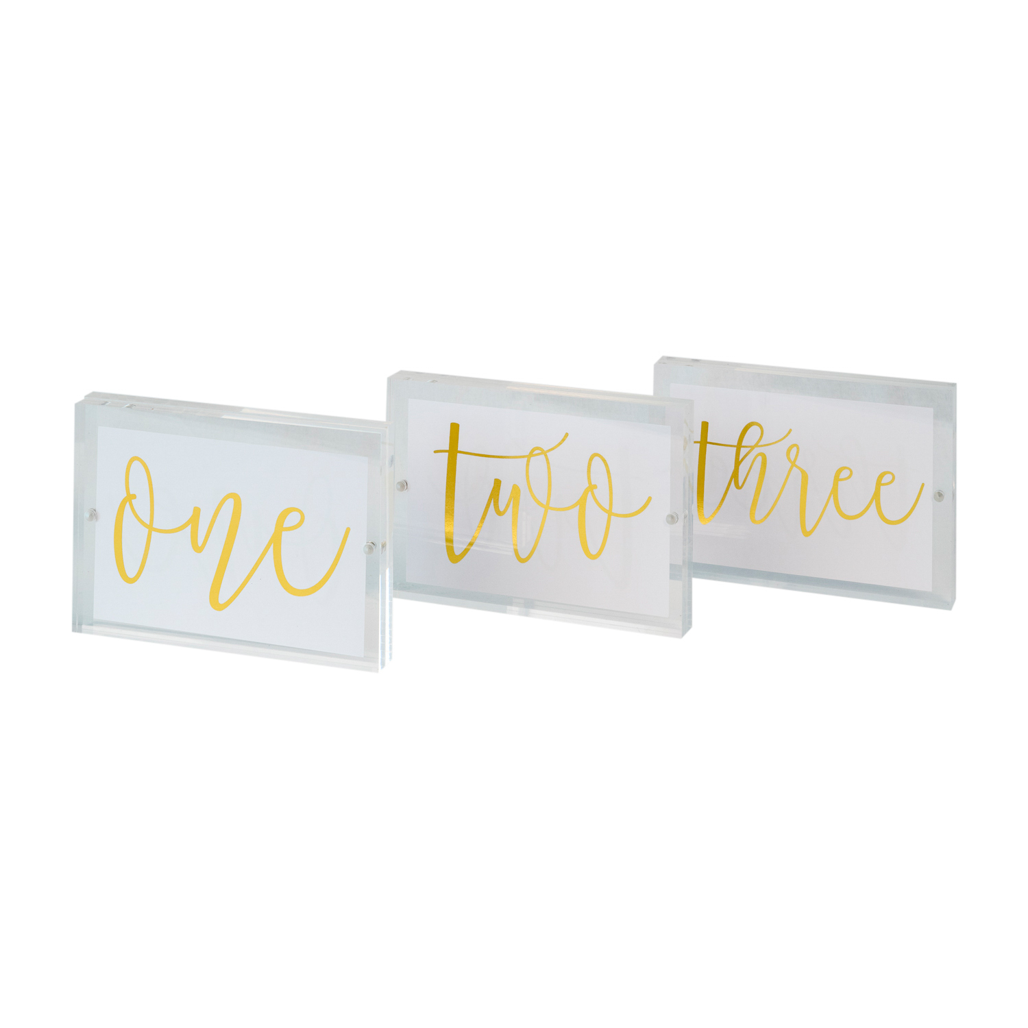 Gold Table Numbers Queenstown Wedding Hire