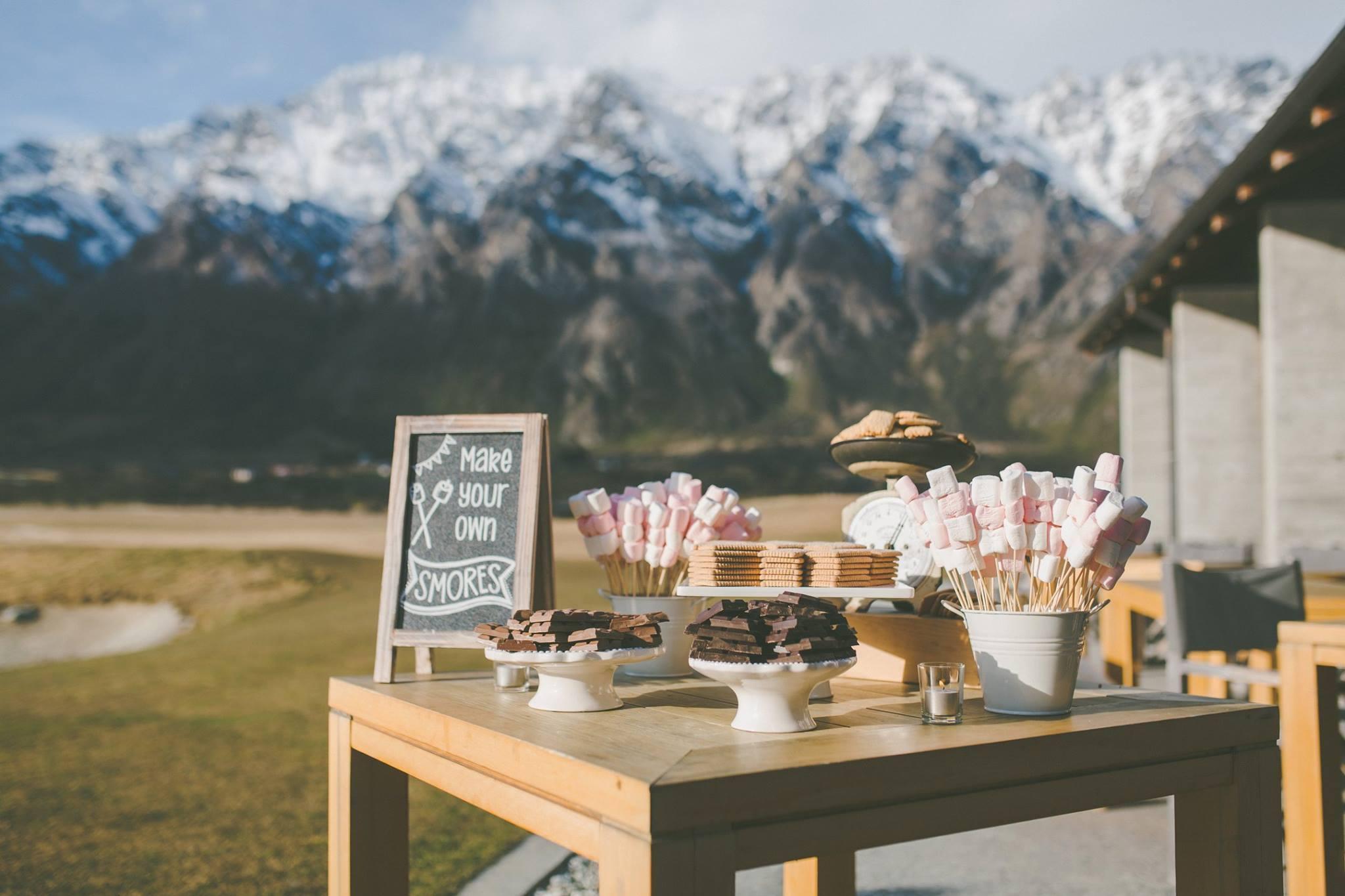 Dessert bar package queenstown wedding hire