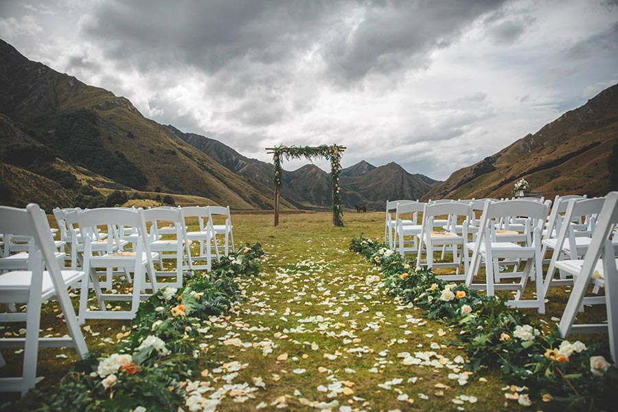 Queenstown wedding hire finishing touches and designer details wedding hire junglespirit Image collections